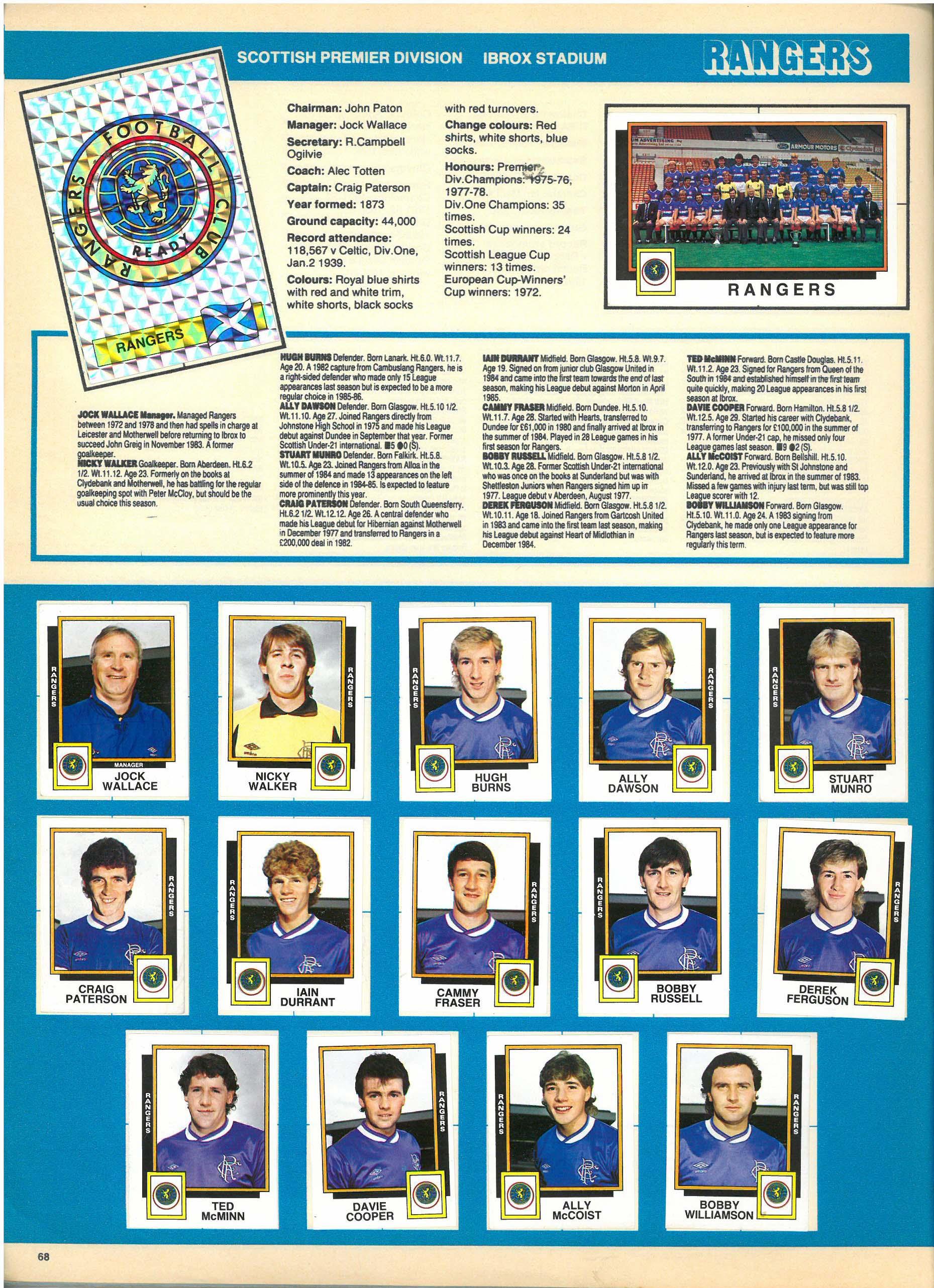 Rangers 1986
