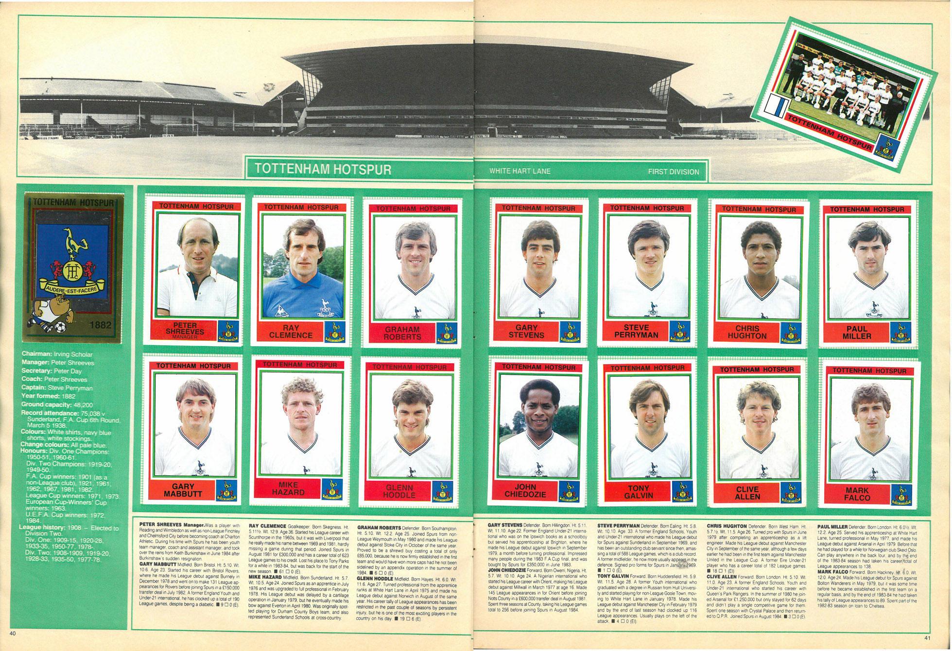 Tottenham Hotspur 1985