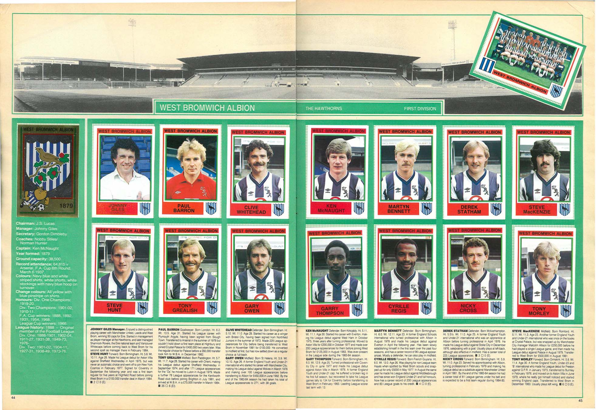 West Bromwich Albion 1985