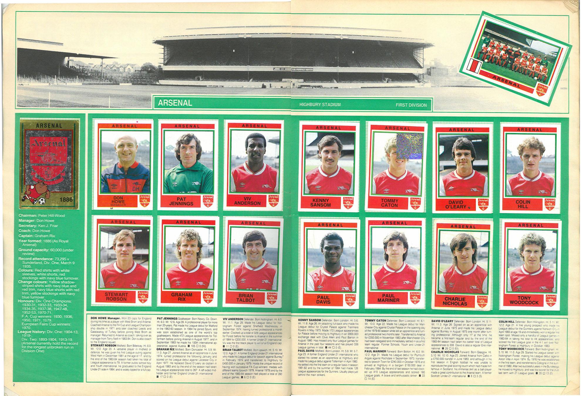 Arsenal 1985