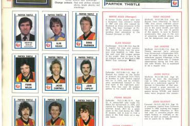 Partick Thistle 1981