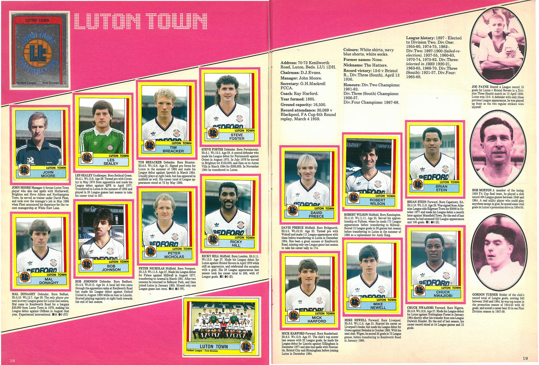 Luton Town 1987