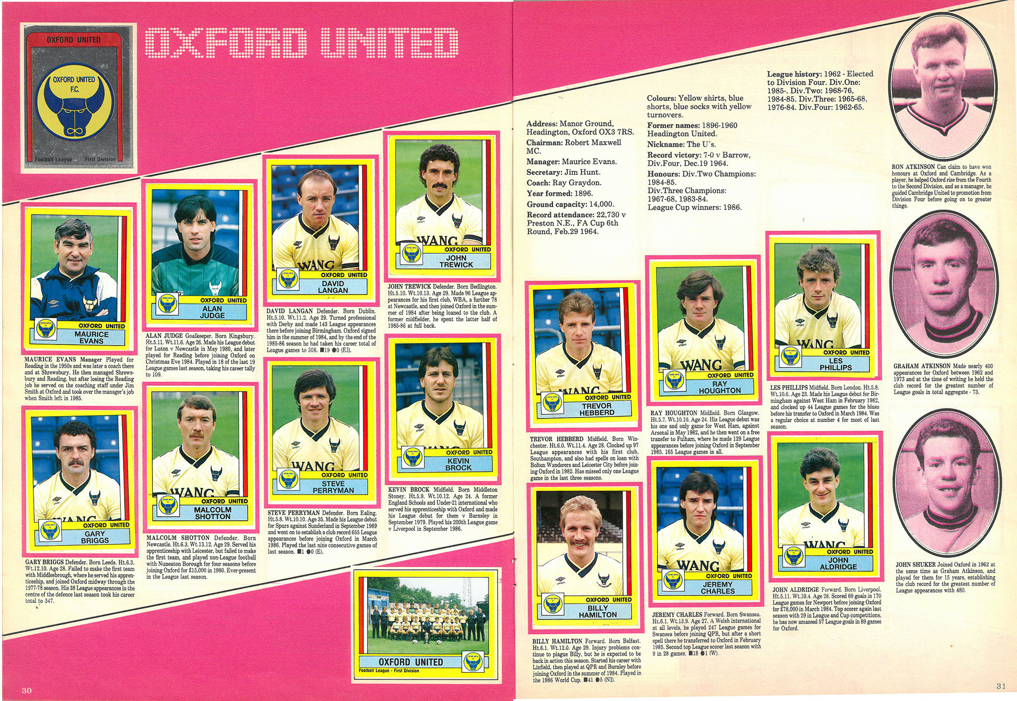 Oxford United 1987