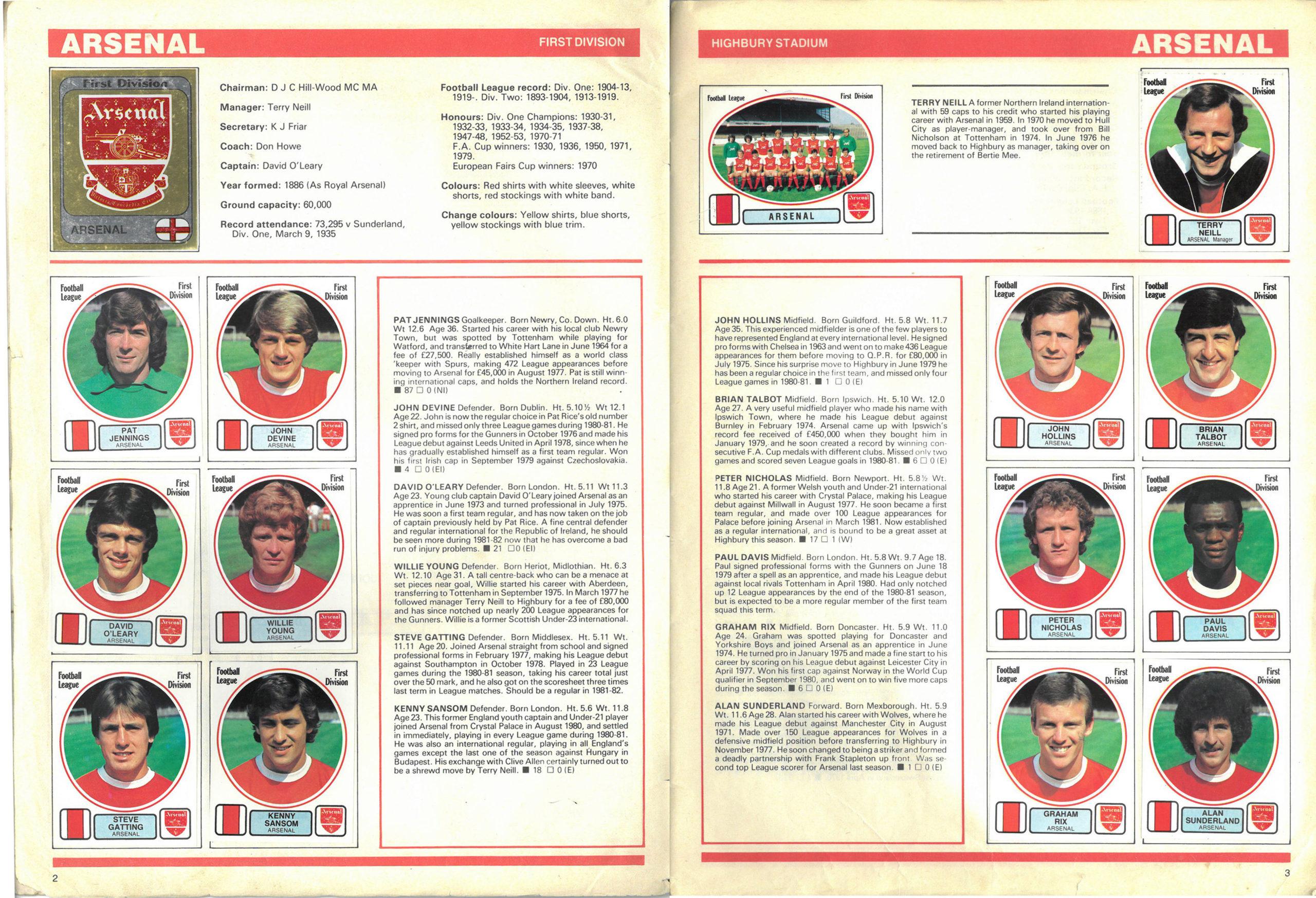 Arsenal 1982