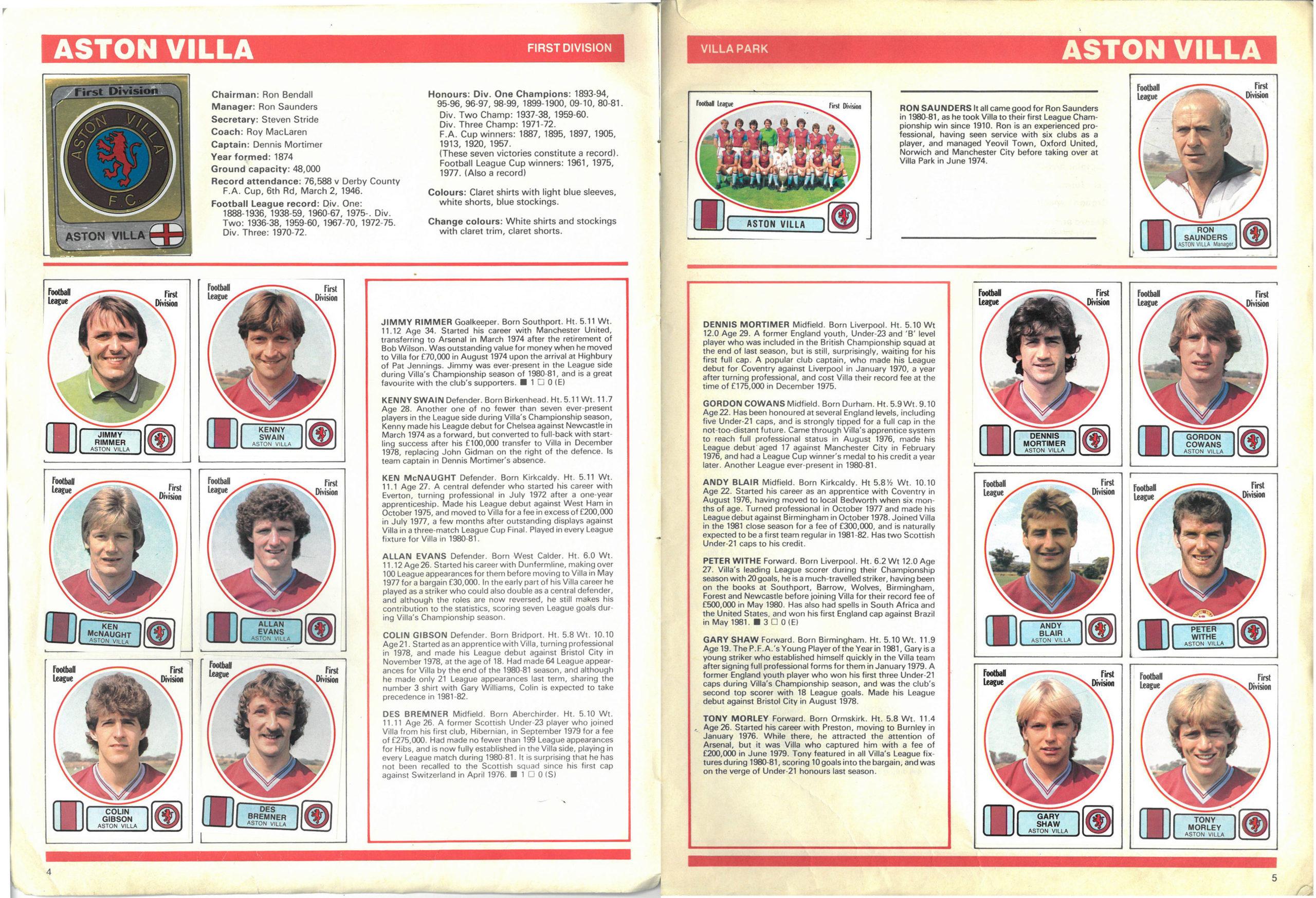 Aston Villa 1982