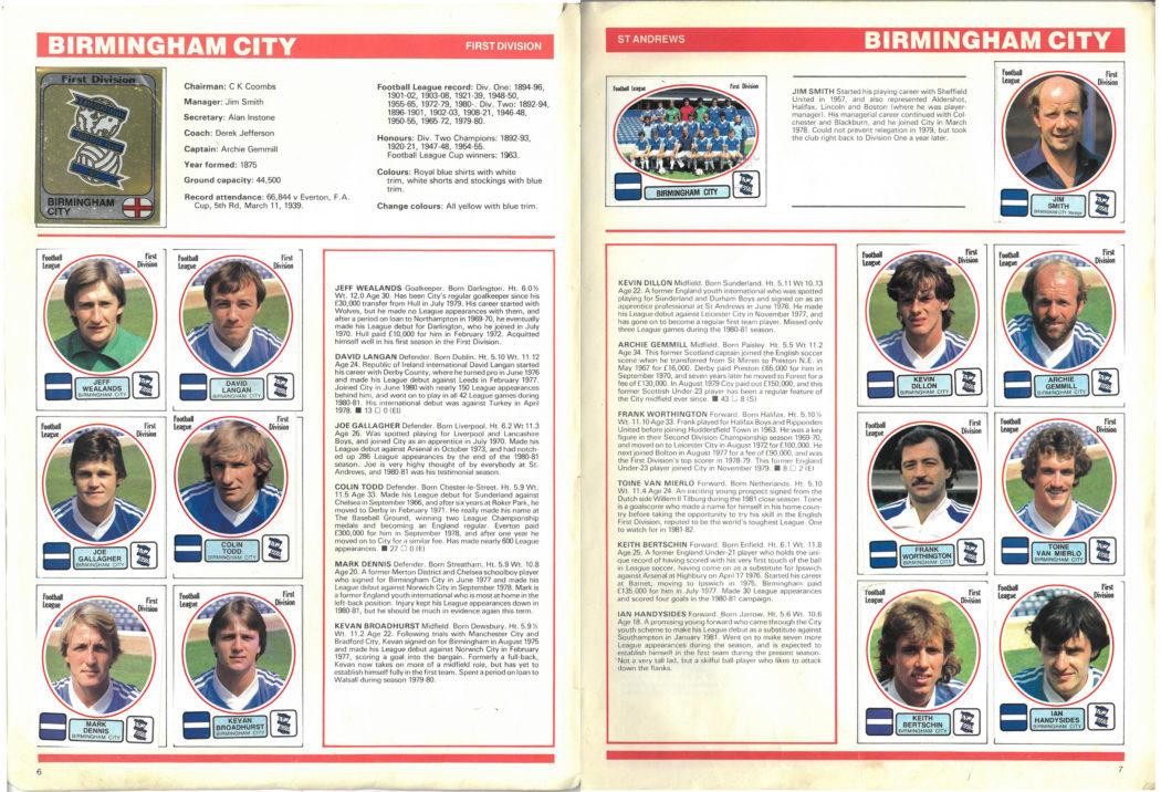 Birmingham City 1982