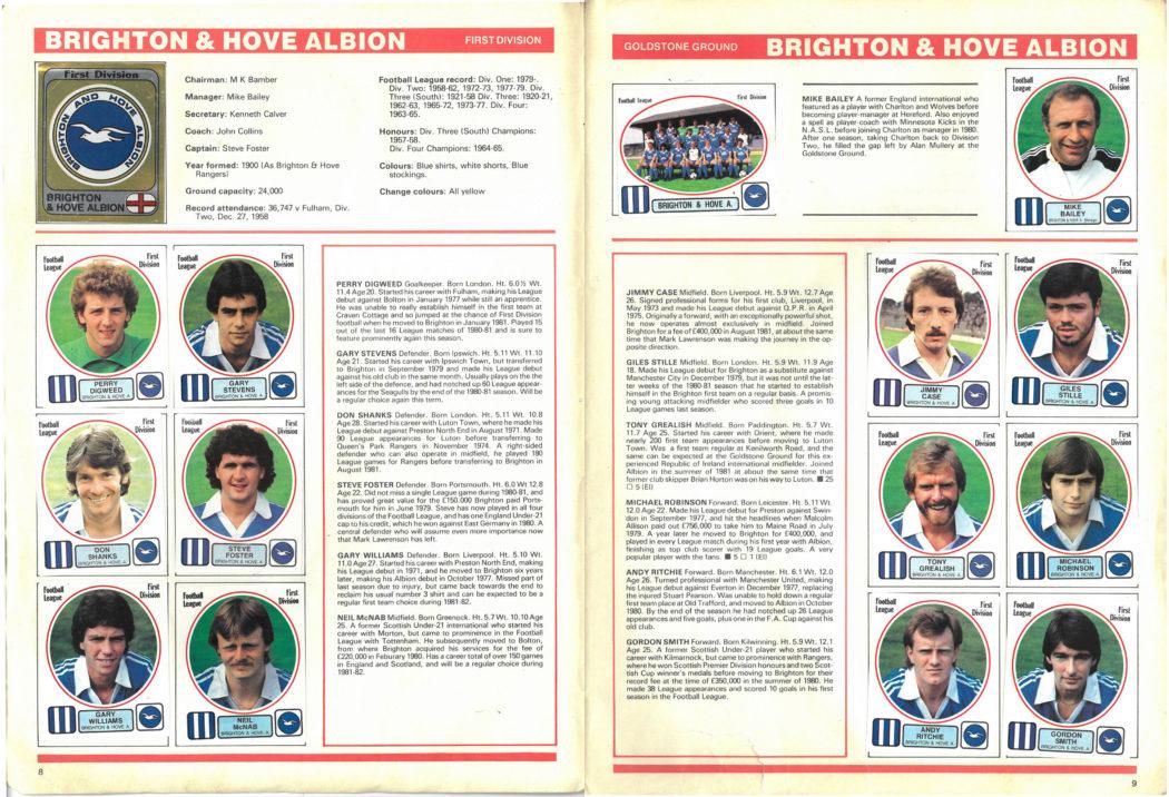 Brighton & Hove Albion 1982