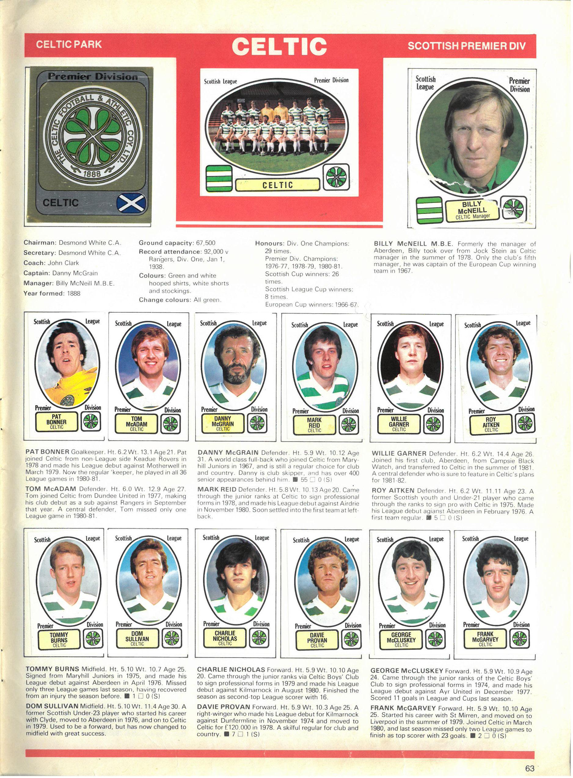 Celtic 1982