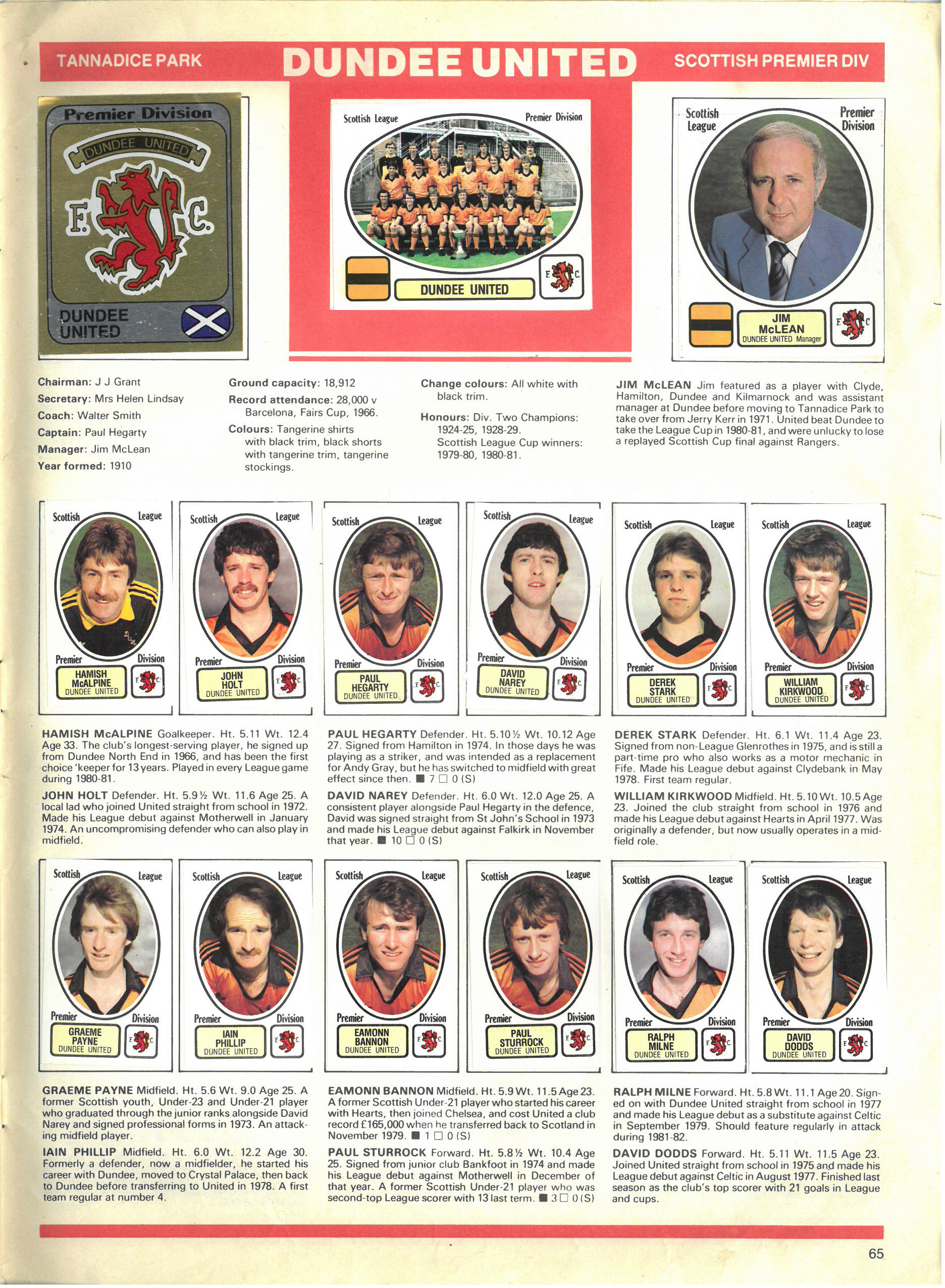 Dundee United 1982