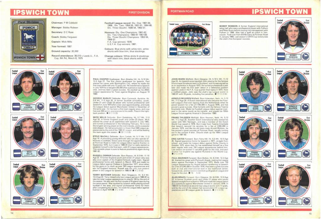 Ipswich Town 1982