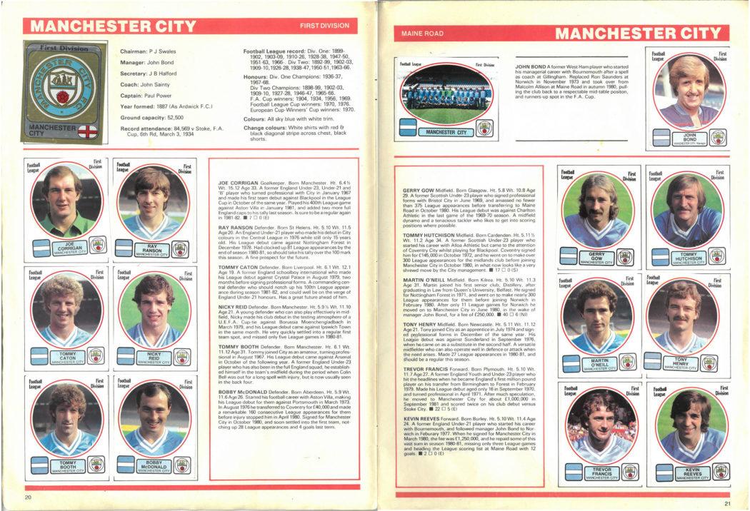 Manchester City 1982