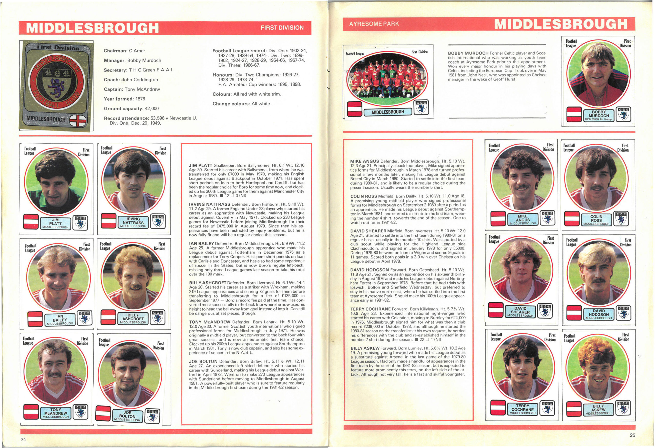 Middlesbrough 1982