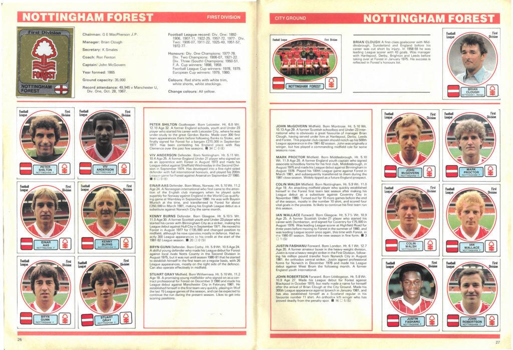 Nottingham Forest 1982