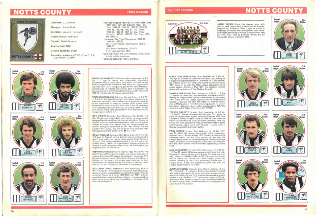 Notts County 1982