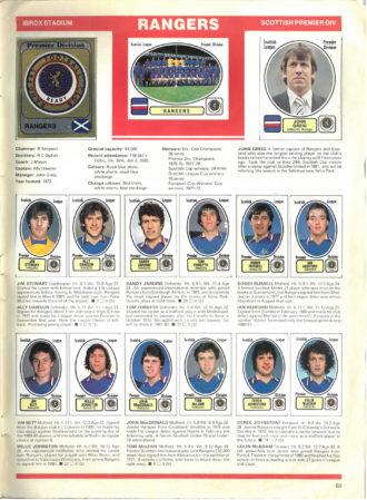 Rangers 1982
