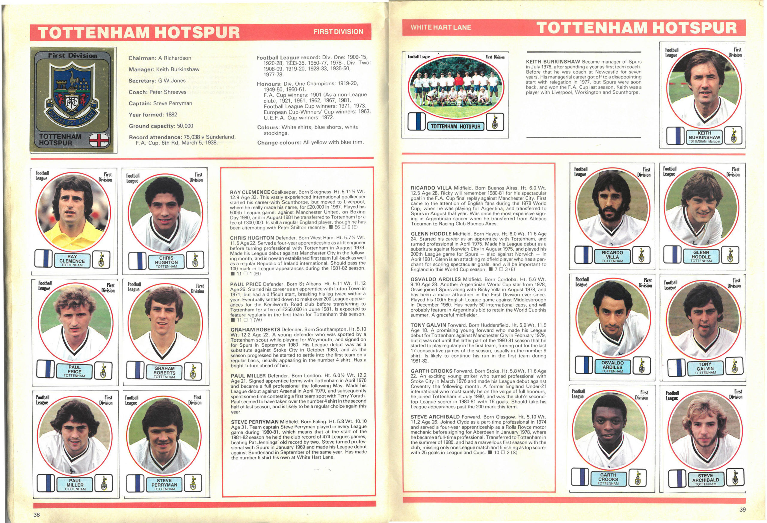 Tottenham Hotspur 1982