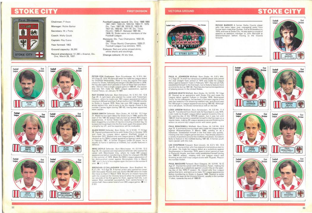 Stoke City 1982