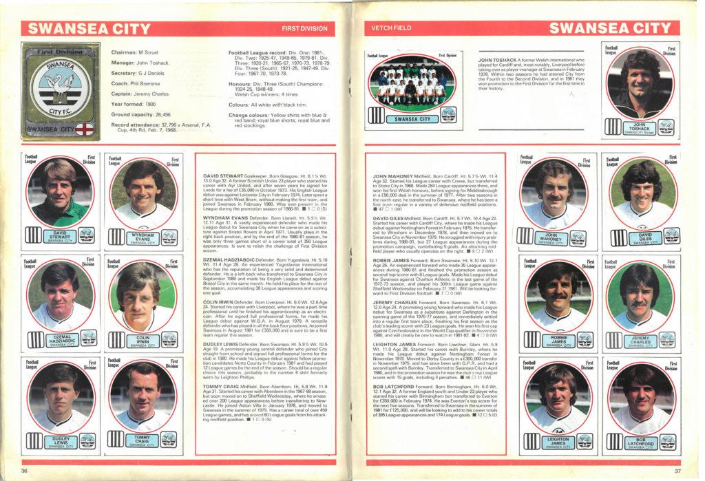 Swansea City 1982