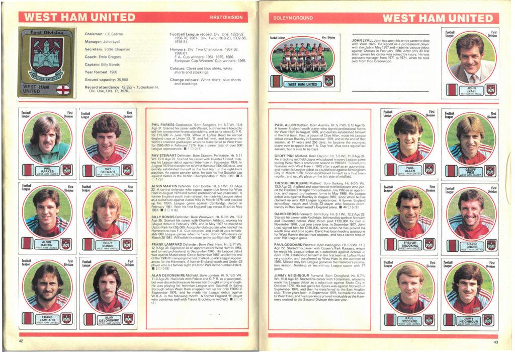 West Ham United 1982