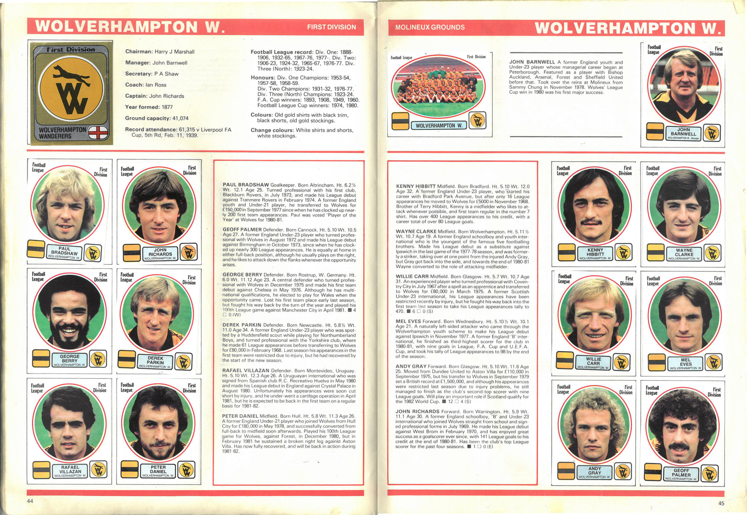 Wolverhampton Wanderers 1982
